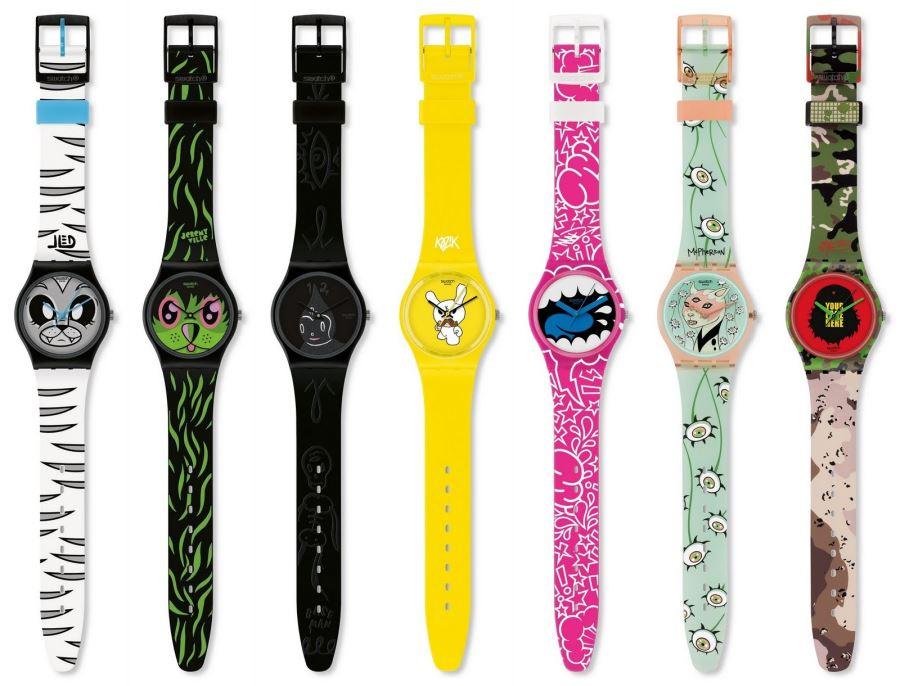 Montres Swatch en plastique