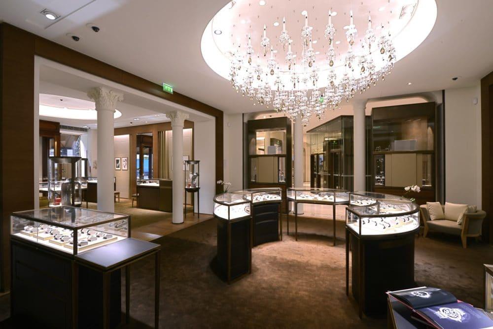 Intérieur de la boutique Cartier au 12 bd des Capucines