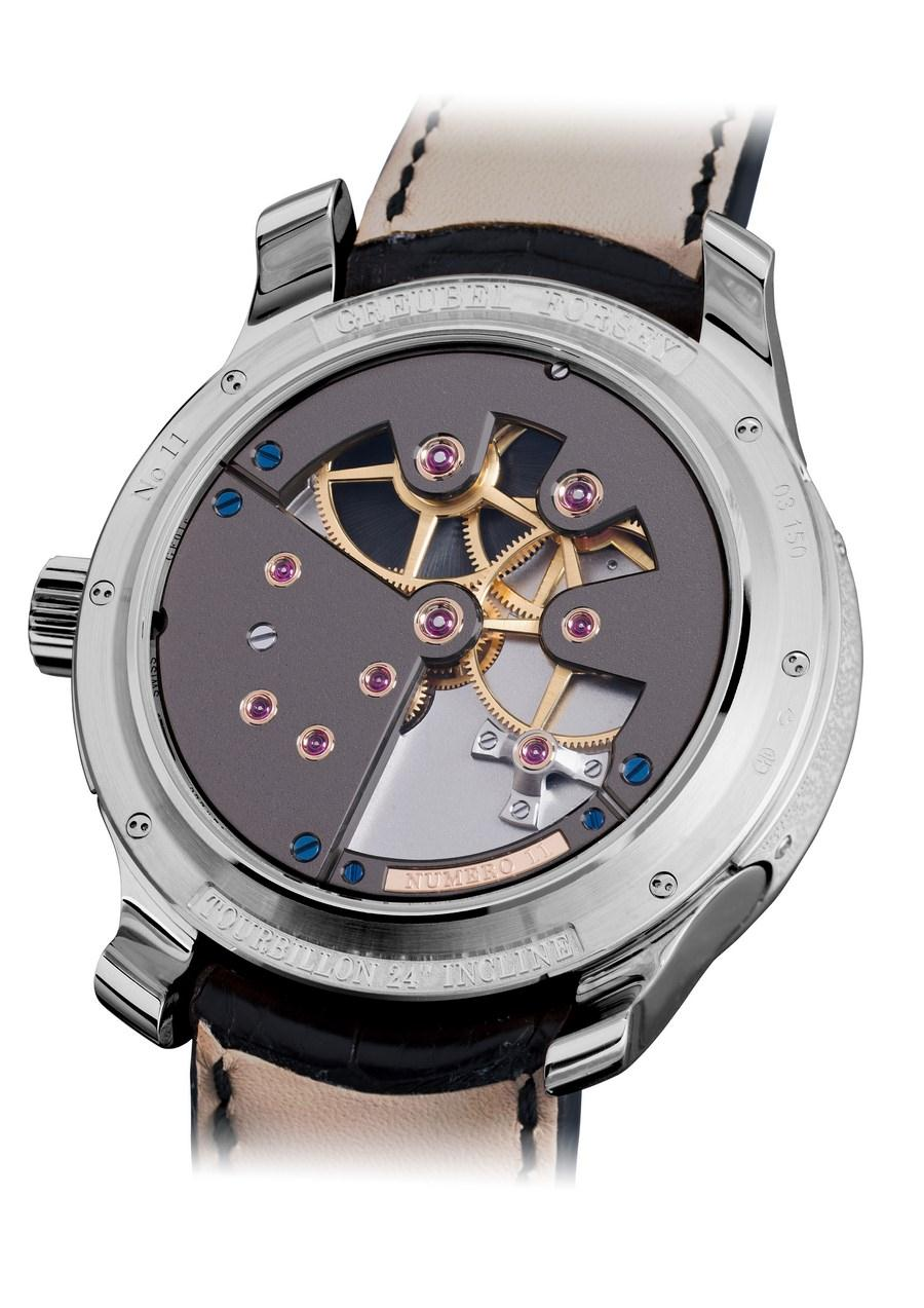 GF Tourbillon 24 secondes Contemporaine Or gris fond saphir