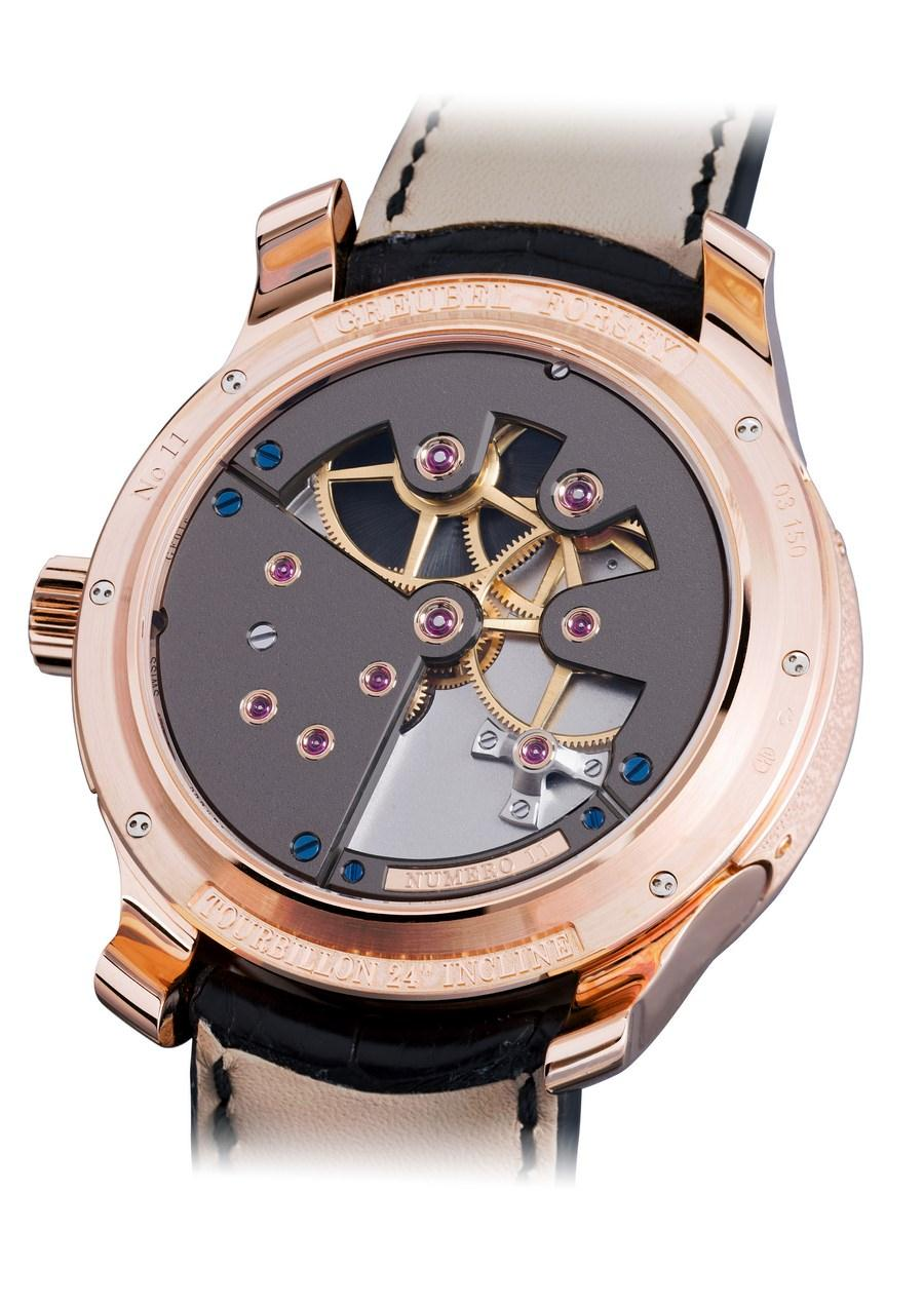 Tourbillon 24 secondes Contemporaine Or rouge fond saphir