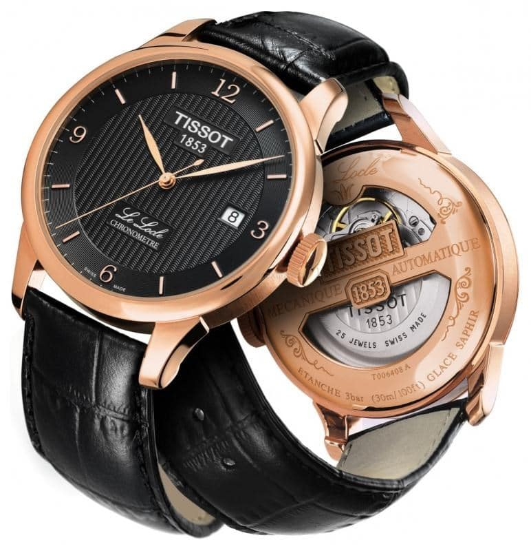 Tissot Le Locle Automatic COSC PVD or rose