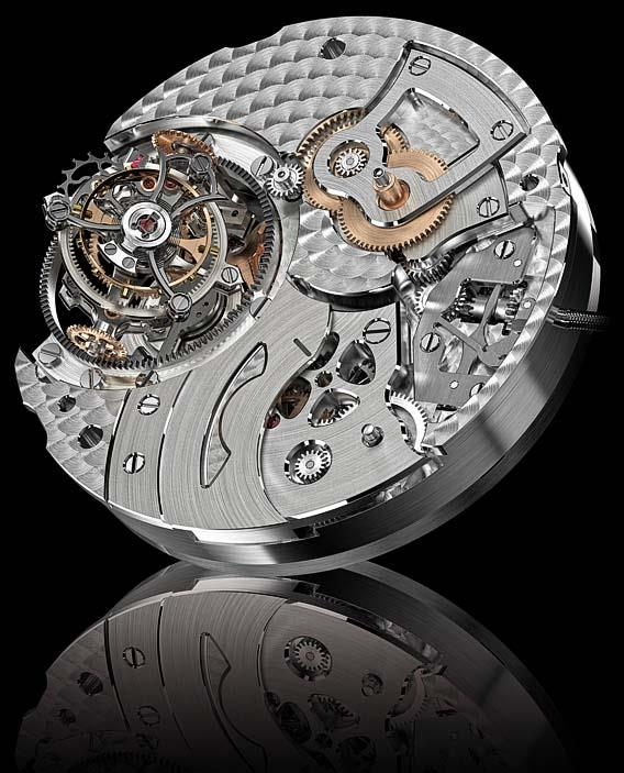 Mouvement de la GP Tourbillon Tri Axial