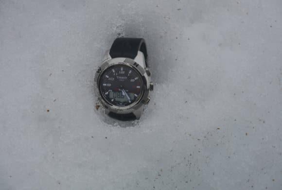 Tissot T Touch 2 dans la neige