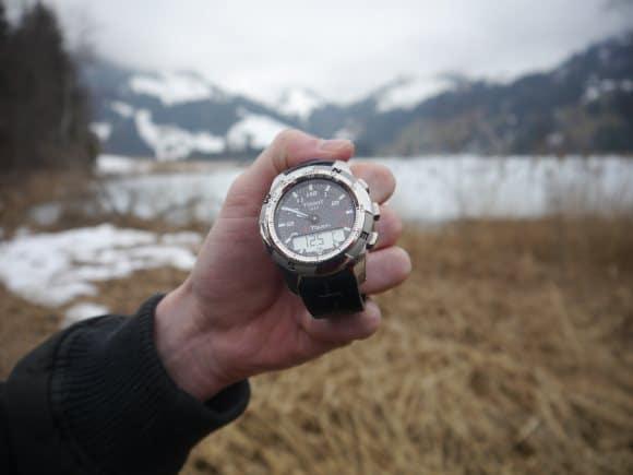Tissot T Touch 2 dans la montagne suisse