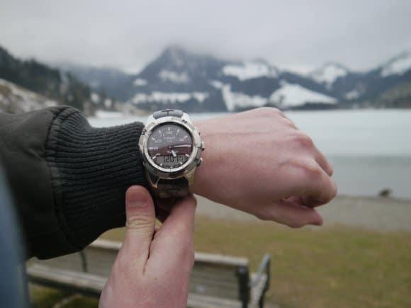 Tissot T Touch dans la montagne