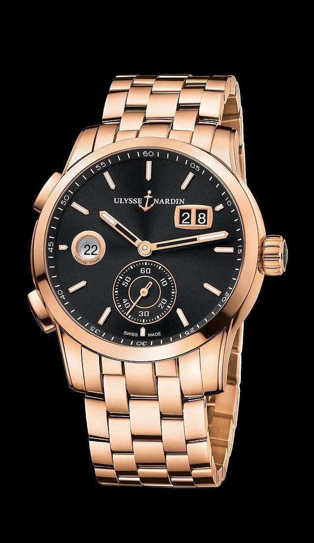 Ulysse Nardin Dual Time Manufacture or rose bracelet or rose