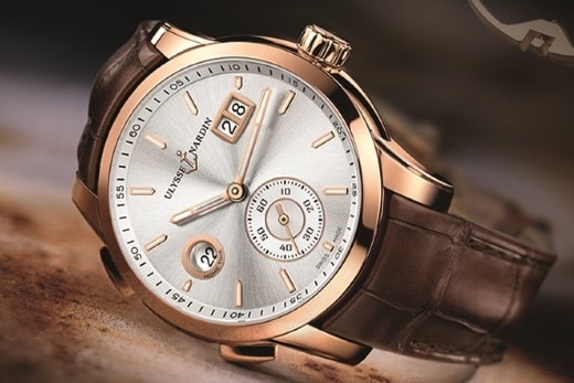 Ulysse Nardin Dual Time Manufacture or rose