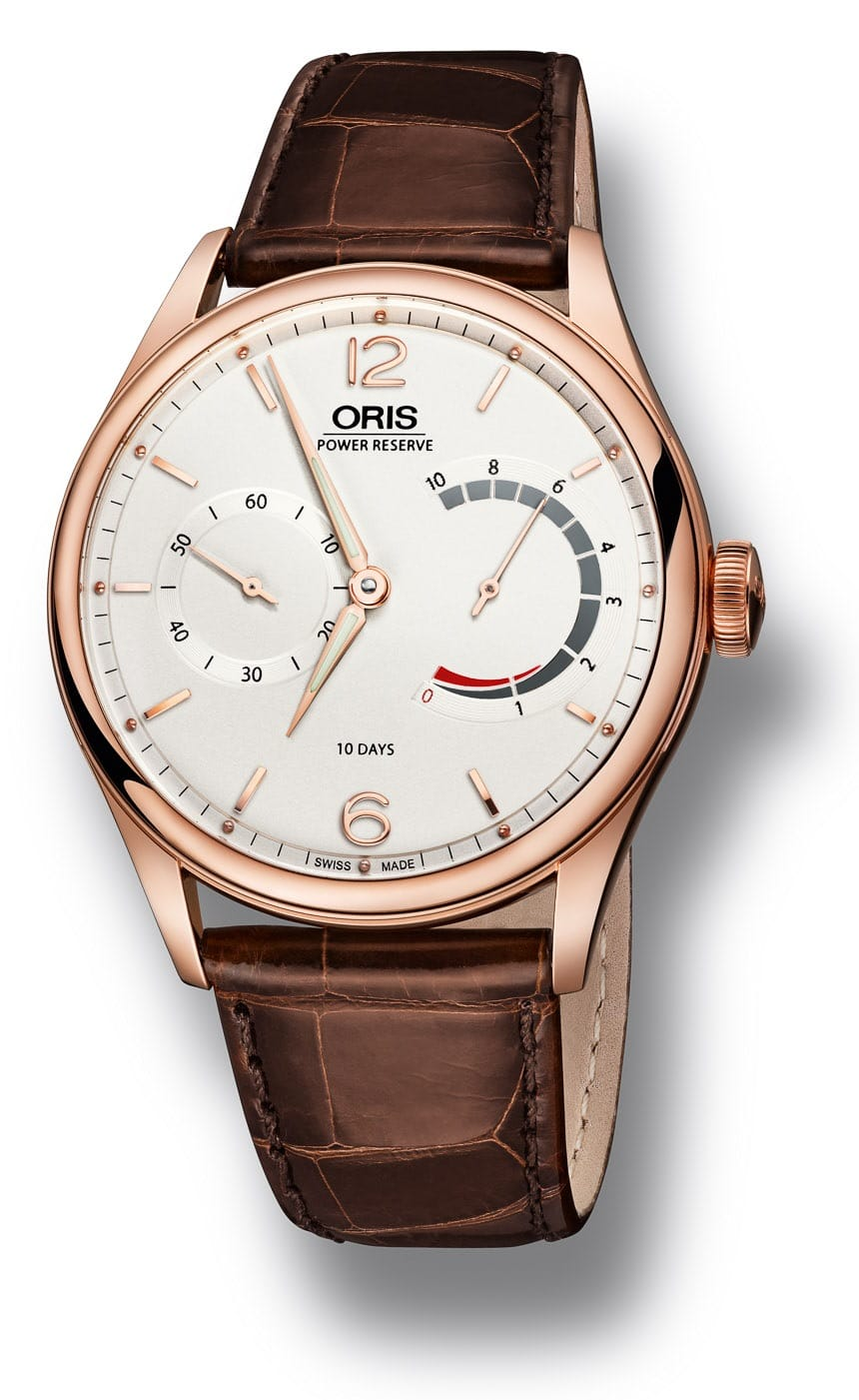 Oris 110 en or rose