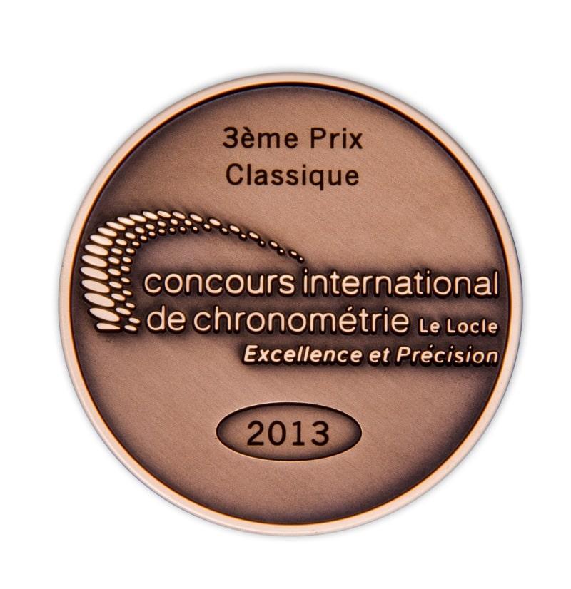 3e prix Classique au concours internationale de chronométrie