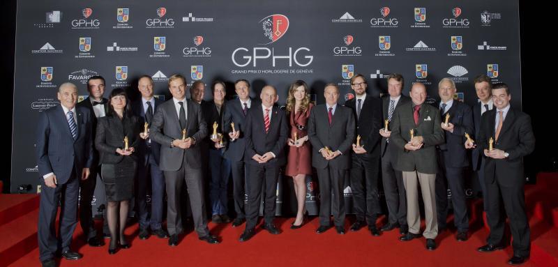 Les lauréats du Grand Prix d'Horlogerie de Genève pour 2013
