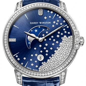 Harry Winston Midnight Diamond Drops 39 mm