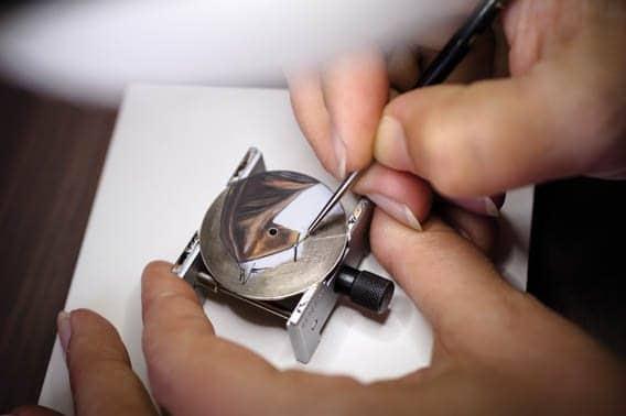 Peinture miniature sur email