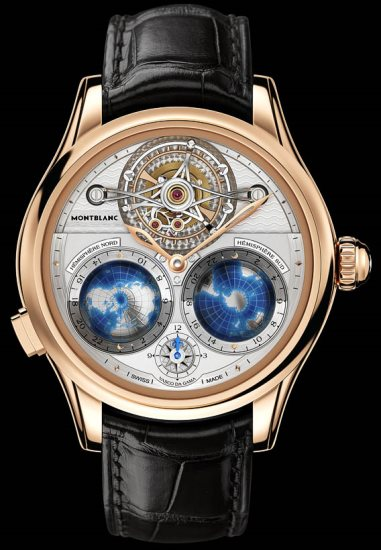 MontBlanc Collection Villeret Tourbillon Cylindrique Geospheres Vasco de Gama