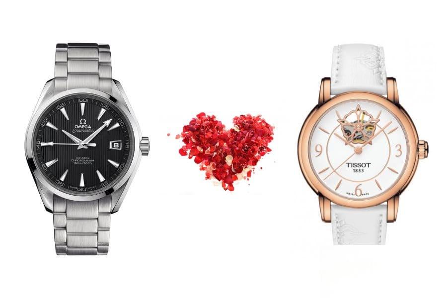 Choix de montres pour la Saint Valentin