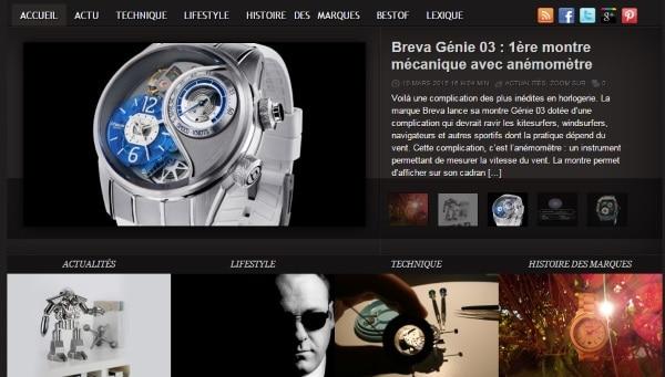 blog et sites de montres