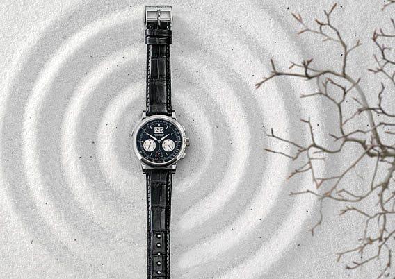A. Lange & Söhne Datograph Up Down Black & White dans le sable