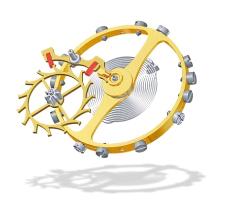 Balancier spiral organe réglant