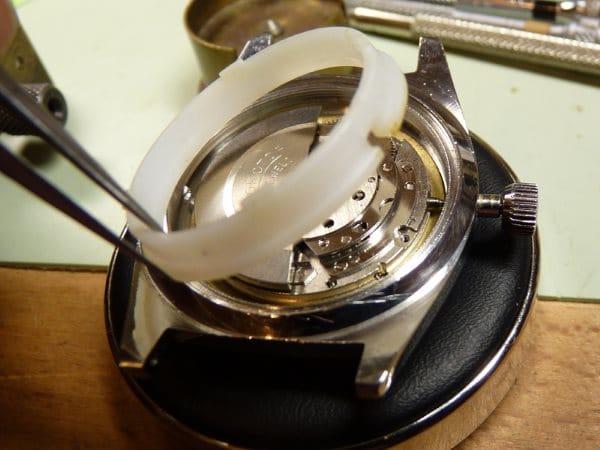 Emboitage d'une montre