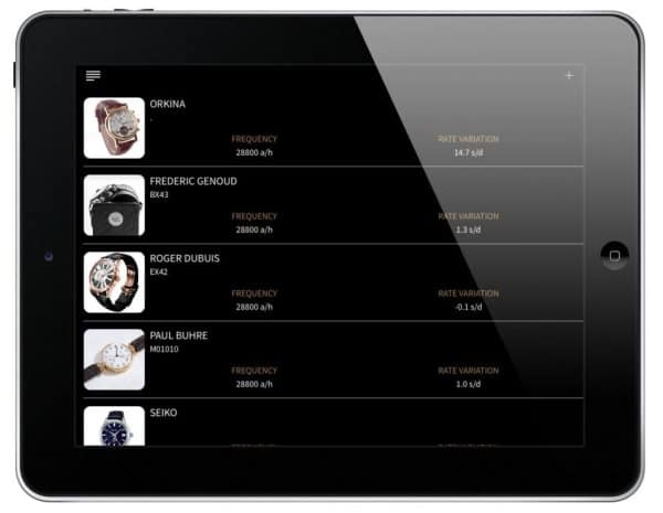 Tablette avec l'application Watch Scope