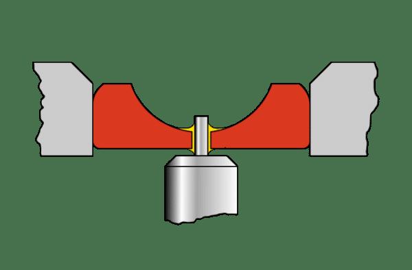 Schema Rubis palier dans une montre mécanique