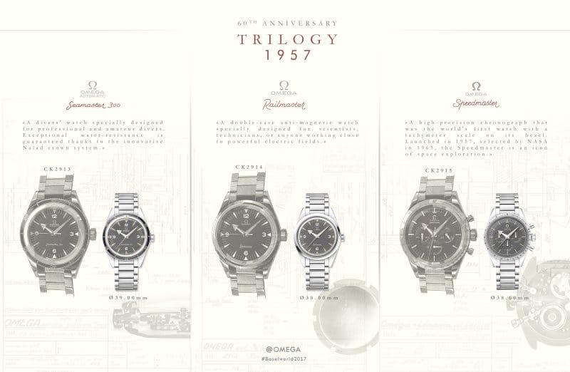 Modèle d'origine de la Trilogy de 1957 d'OMEGA
