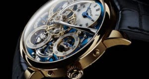 MB&F Legacy Machine Perpetual or jaune